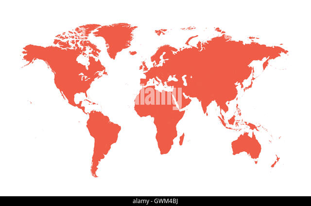 World Map Flat Cartography Stock Photos World Map Flat - World map flat