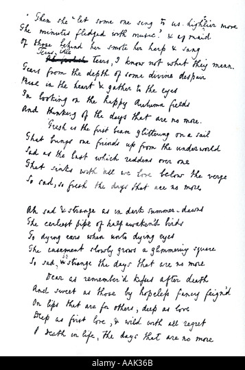 an analysis of tennysons tears idle tears The moxon tennyson  millais's illustration for dora william mctaggart's dora tears, idle tears and millais's autumn leaves arthur.