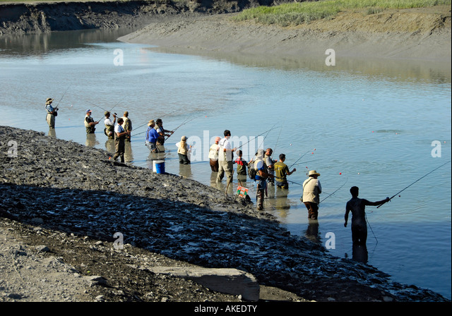 Anchorage alaska stock photos anchorage alaska stock for Salmon fishing anchorage