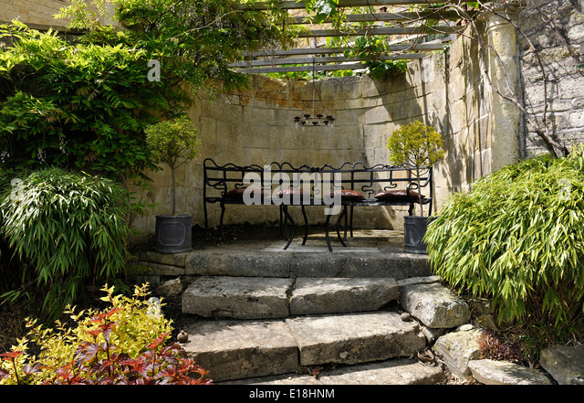 Garden Seating Area Stock Photos Garden Seating Area Stock