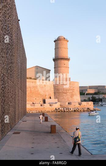 Mucem museum european mediterranean civilisations stock - Parking vieux port fort saint jean marseille ...