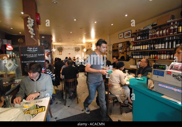Restaurant in the jewish quarter le marais stock photos for Restaurant le miroir paris 18