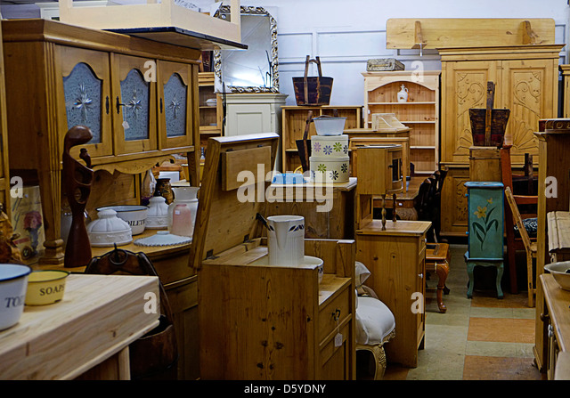 Antique furniture shop in Ireland - Stock Image - Antiques Furniture Stock Photos & Antiques Furniture Stock Images