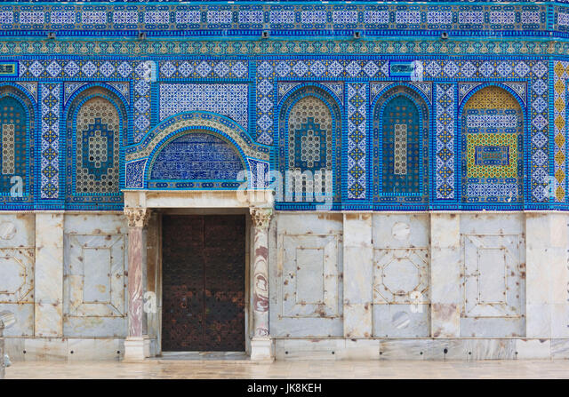 Israel, Jerusalem, Temple Mount, Dome of the Rock - Stock Image