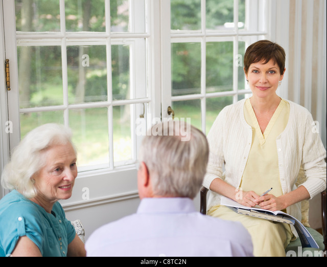 Old People Home Care Usa Stock Photos Old People Home Care Usa