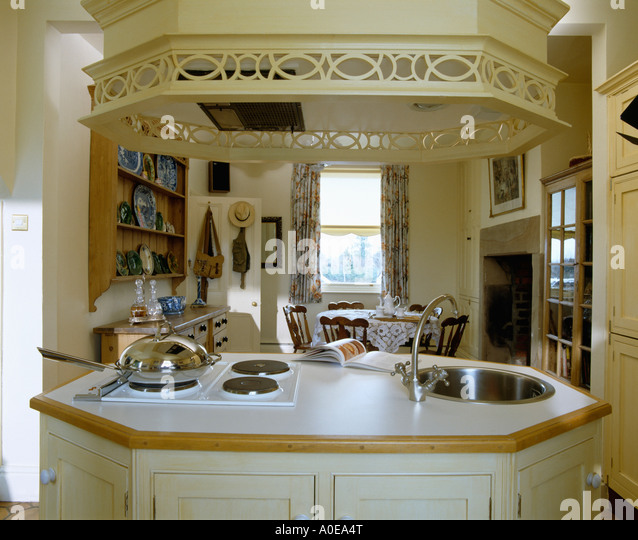 Kitchen Island Unit With Sink And Hob kitchen central island unit stock photos & kitchen central island