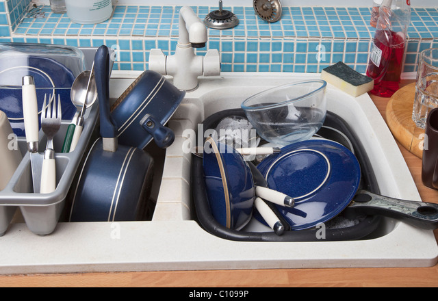 Kitchen Sink With Dishes sink full of dishes stock photos & sink full of dishes stock