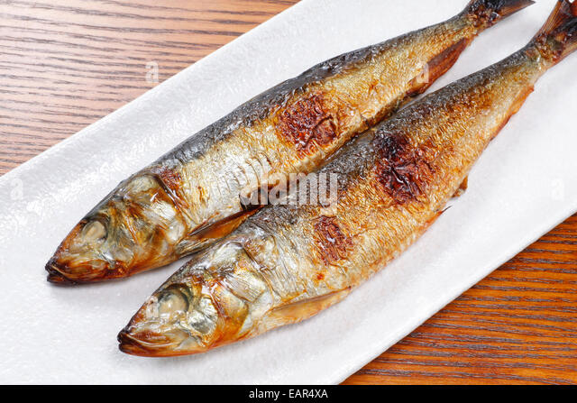 Japanese Style Grilled Fish Stock Photos & Japanese Style Grilled ...