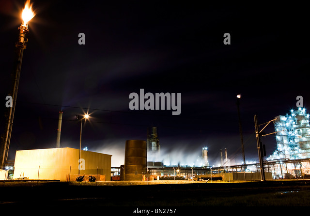 Oil Refinery Flame Stock Photos Oil Refinery Flame Stock