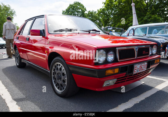 berlin germany may 17 2014 compact executive car lancia delta hf integrale