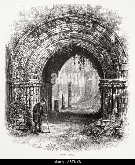 Furness Abbey Cumbria Lake District Vault Arch Christian Ruin Stone Carve Gothic Medieval GB UK England