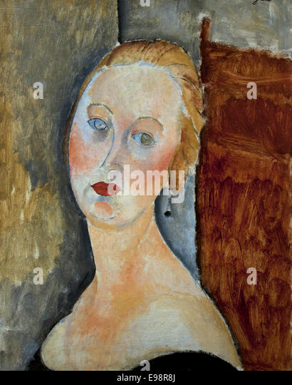 Célèbre Art Painting Amedeo Modigliani Stock Photos & Art Painting Amedeo  OB79
