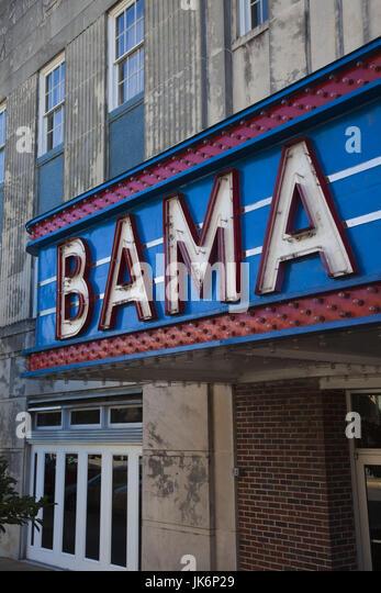 USA, Alabama, Tuscaloosa, Marquee of the Bama theater - Stock Image