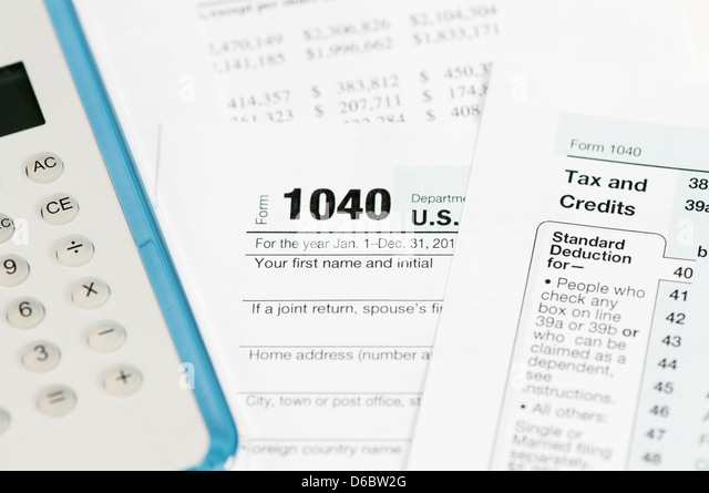 1040 stock photos 1040 stock images alamy for 1040 tax table calculator