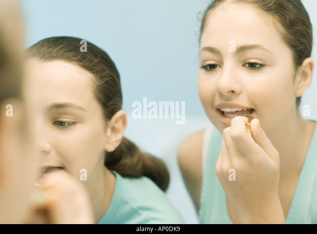 teenage makeup friends putting on makeup stock photos friends putting on makeup