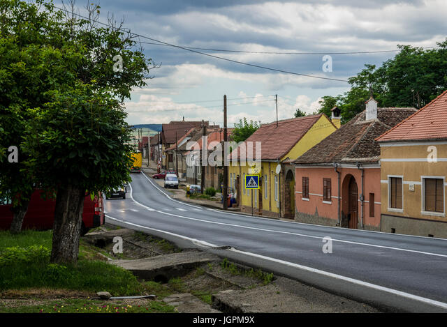 House and atm stock photos house and atm stock images alamy - Saxon style houses in transylvania ...