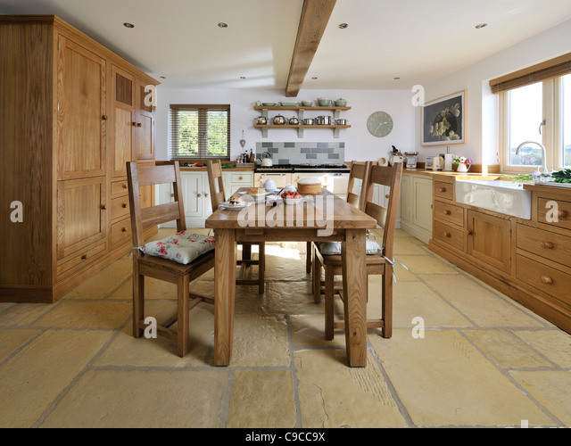 English Country Kitchen Dining Stock Image