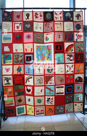 Hiv Awareness Quilt For World Aids Day Stock Photos & Hiv ... : world aids day quilt - Adamdwight.com