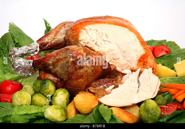 Christmas dinner turkey stuffing stock photos christmas for Thanksgiving dinner with all the trimmings