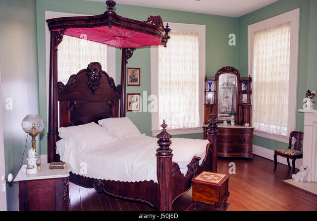 Montgomery Alabama Old Alabama Town historic buildings Ordeman House 1850s  bedroom four poster bed canopy dressers. Montgomery Alabama Skyline Stock Photos   Montgomery Alabama