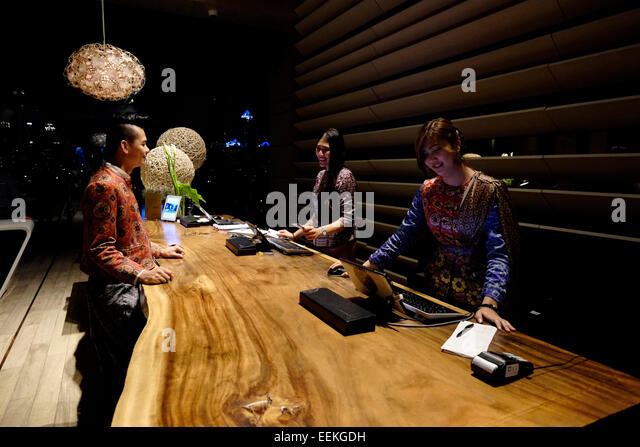 Front Desk Staff In The Luxurious Sofitel So Hotel City Of Bangkok Thailand