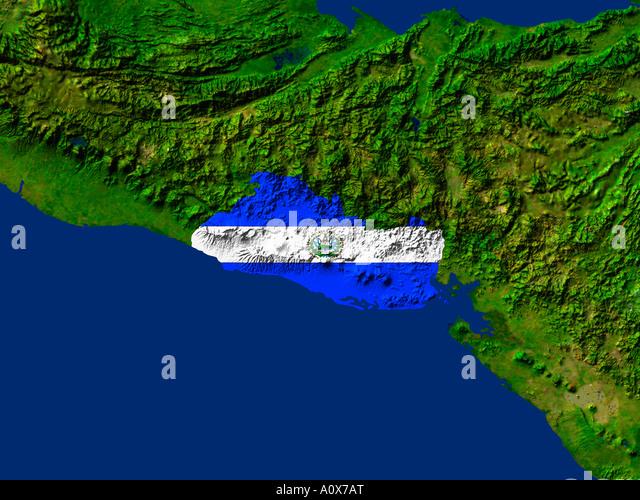 El Salvador Flag Stock Photos El Salvador Flag Stock Images Alamy - Satellite image photo of el salvador