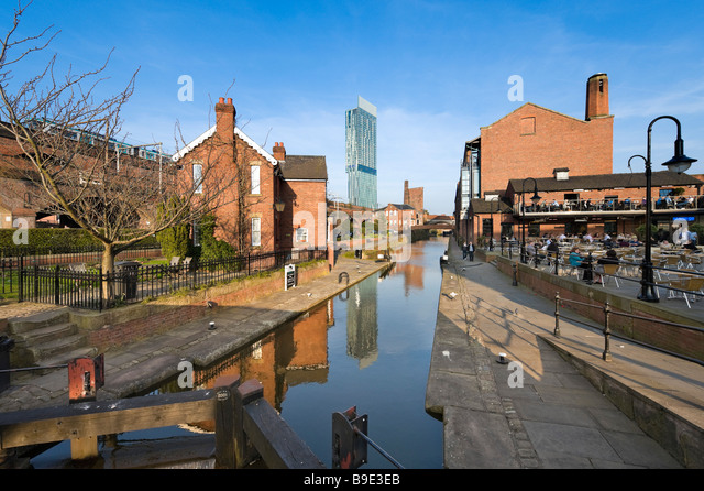 Wighton United Kingdom  city photo : Cafe and bar in the redeveloped canalside area of Castlefield with the ...