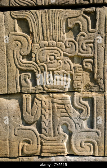 Quetzalcoatl god stock photos