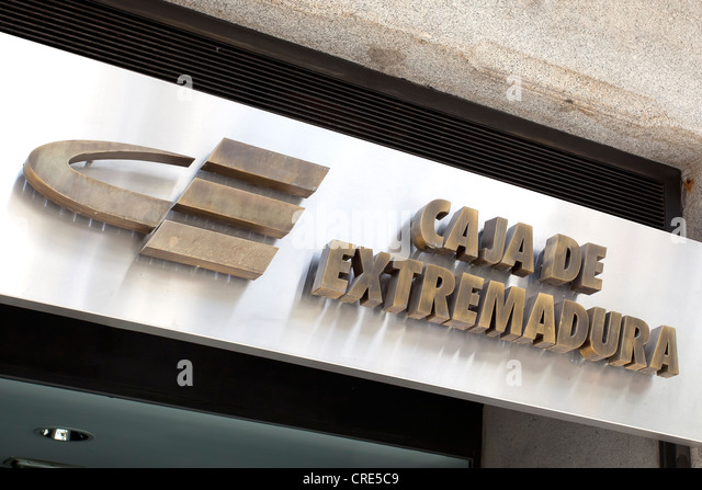 Spanish bank stock photos spanish bank stock images alamy for Caja de extremadura oficinas