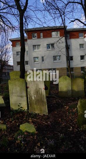 London Cemetery - Stock Image