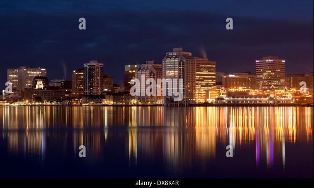 Halifax waterfront night