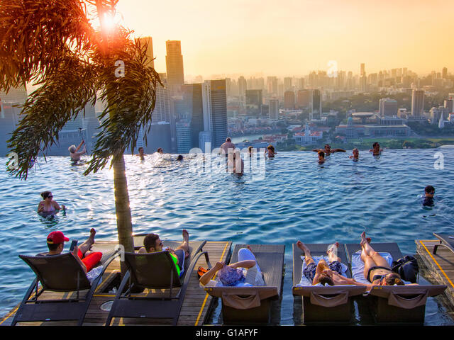 Marina Bay Sands Hotel And Pool Stock Photos Marina Bay Sands Hotel And Pool Stock Images Alamy