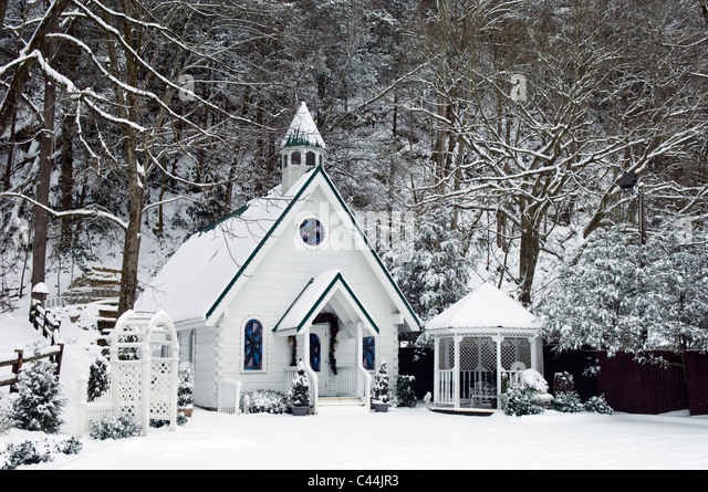Wedding Chapel And Fresh Snow In Gatlinburg Tennessee