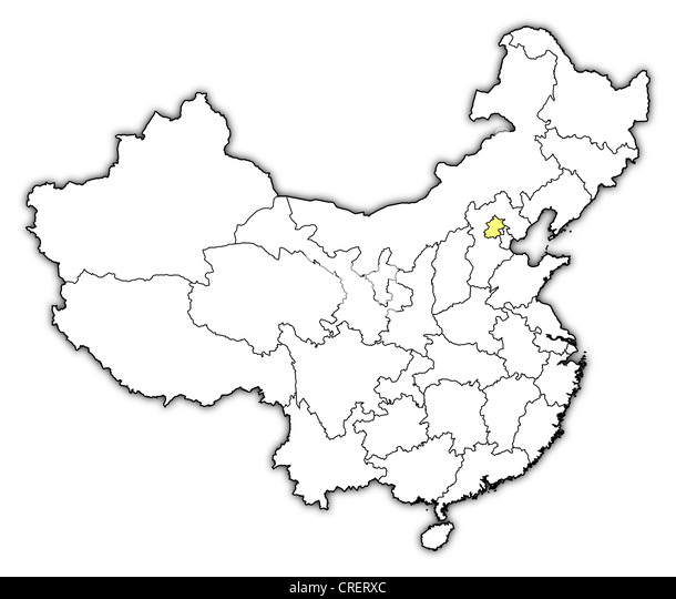 beijing map vector stock photos beijing map vector stock images Beijing Map in English political map of china with the several provinces where beijing is highlighted stock image