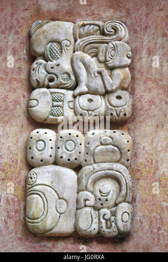 Carving in palenque stock photos