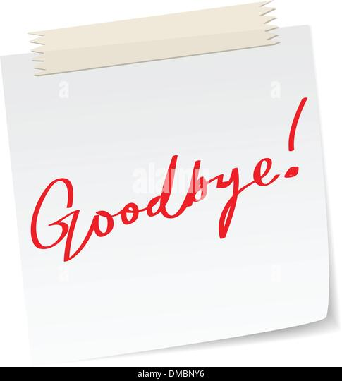 Good Bye Message Stock Photos & Good Bye Message Stock Images - Alamy
