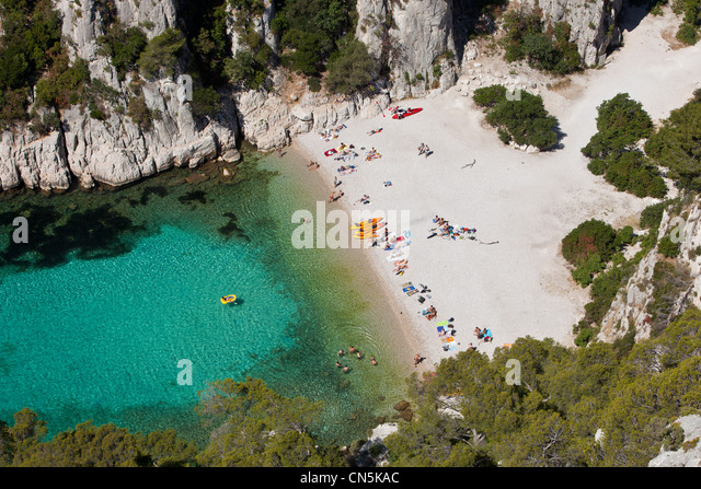 Calanque den vau marseille provence stock photos for Marseille bouche du rhone
