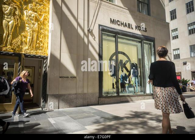 Michael kors store stock photos michael kors store stock for Michael kors rockefeller center