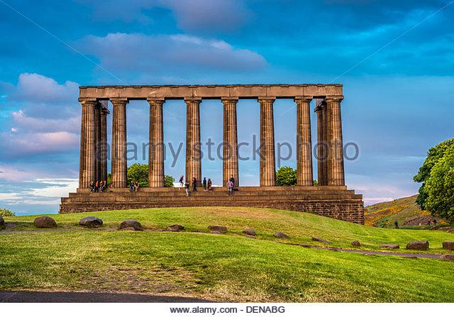 Scottish national monument edinburgh scotland uk europe stock image