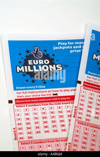 Euro Millions Lottery Ticket Lucky Stock Photos & Euro ...
