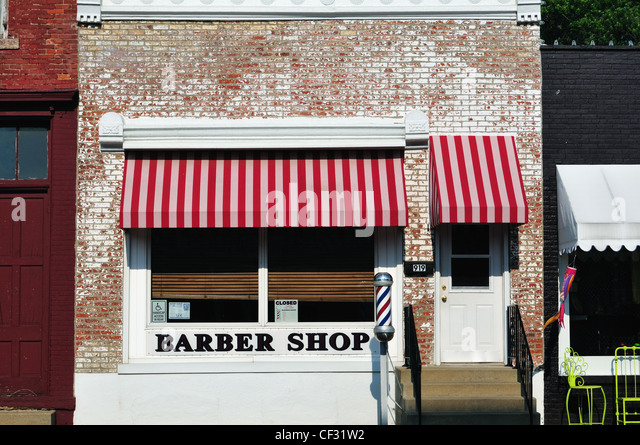 Barber Shop On Main : Barber shop with vanishing barber pole on Main Street in Princeton ...