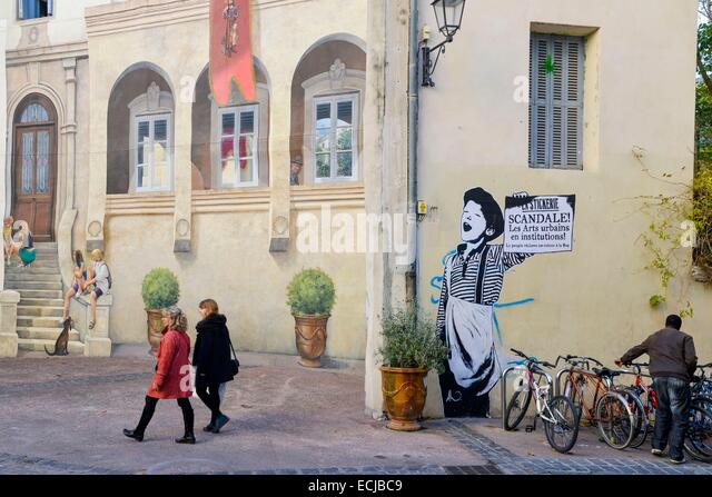 montpellier mural stock photos montpellier mural stock images alamy. Black Bedroom Furniture Sets. Home Design Ideas