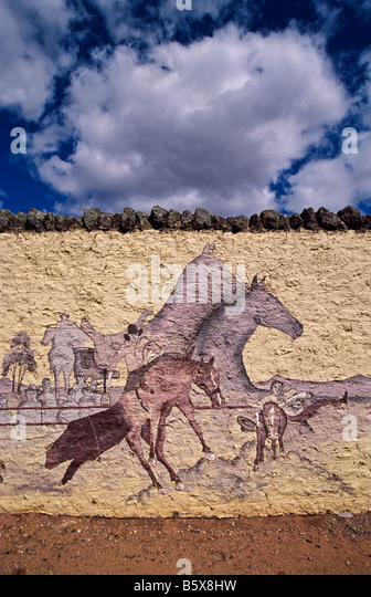 Jackeroos stock photos jackeroos stock images alamy for Australian mural
