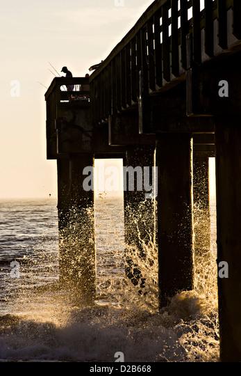 Florida fishing pier stock photos florida fishing pier for St augustine fishing pier