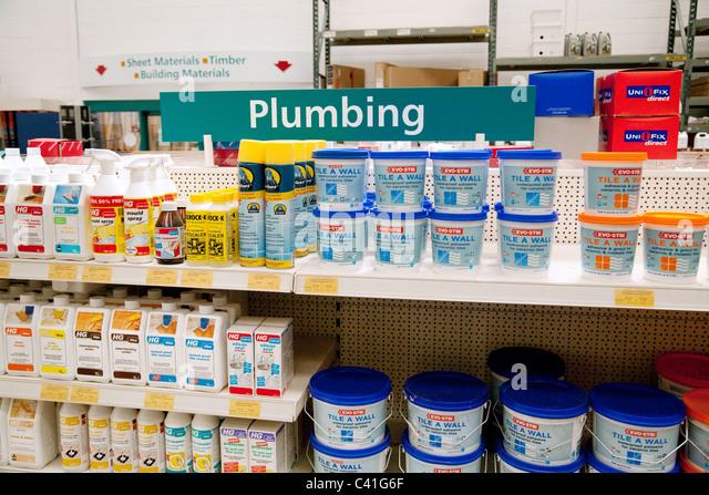 Plumbing stock photos plumbing stock images alamy plumbing accessories in ridgeons diy store newmarket suffolk uk stock image solutioingenieria Choice Image