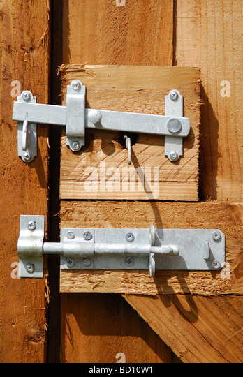 Wooden Gate Lock And Latch.   Stock Image