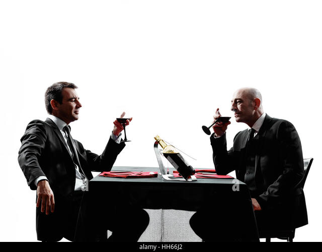 Dining Silhouette Stock Photos amp Dining Silhouette Stock  : two businessmen dinning in silhouettes on white background hh66j2 from www.alamy.com size 640 x 499 jpeg 30kB