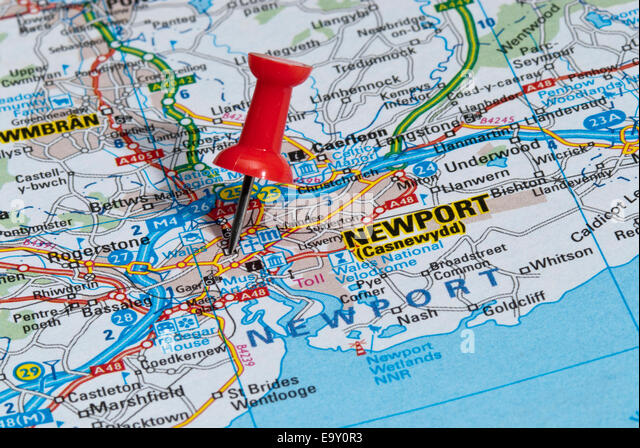 Map of Newport Wales