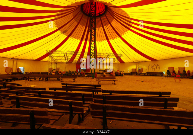Berlin Germany Interior of a circus tent in the former Spreepark in Plänterwald - & Interior Circus Tent Stock Photos u0026 Interior Circus Tent Stock ...