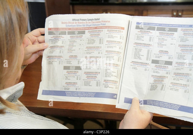 Sample Ballot Stock Photos & Sample Ballot Stock Images - Alamy